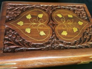 Handcarved Wood Keepsake Box