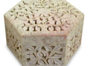 Hand-Carved Soap Stone Keepsake Box